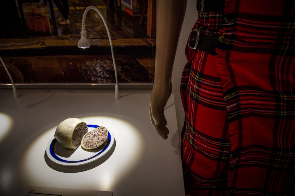 Национальное шотландское блюдо из бараньих потрохов хаггис