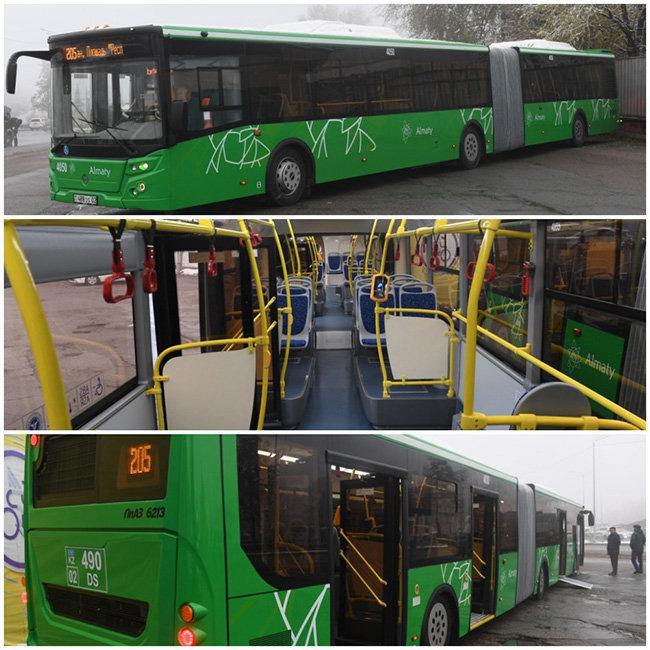 В Алматы на линию BRT вышли новые автобусы-гармошки