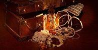 Старый сундук с сокровищами, иллюстративное фото