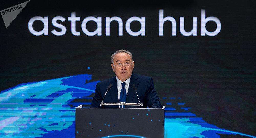 Нұрсұлтан Назарбаев Астана Хабтың ашылуында