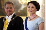 Президент Финляндии Саули Нинистё и его супруга Йенни Элина Хаукио
