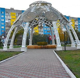 Жамбыл көшесіндегі сквер