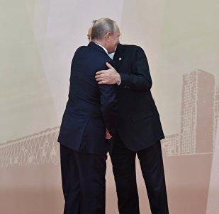 Путин Назарбаевты құшақтады - ҰҚШҰ саммиті