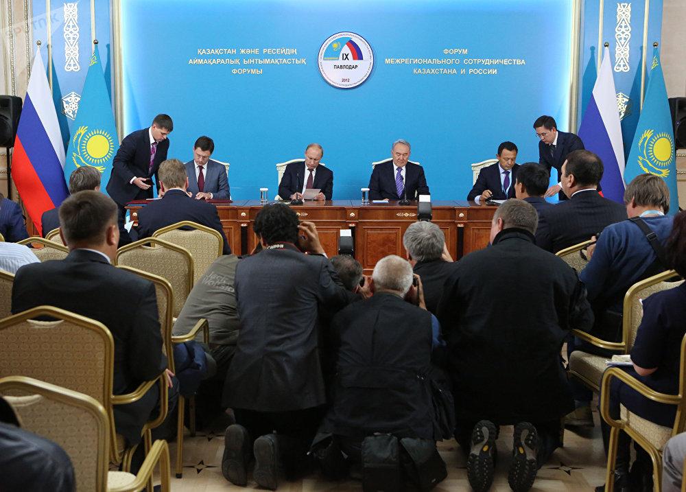 Рабочий визит президента России В.В.Путина в Казахстан