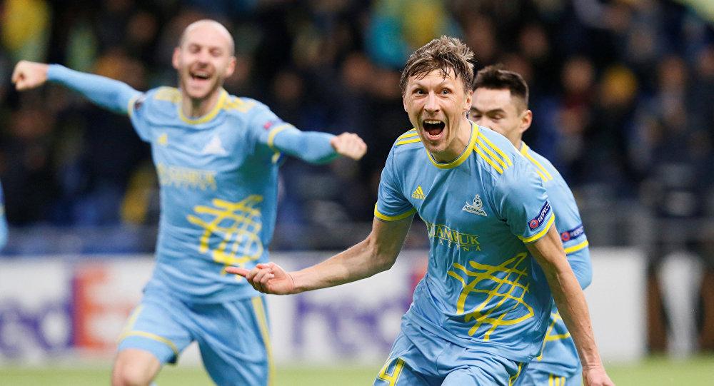 Матч Астана - Яблонец в рамках группового этапа Лиги Европы
