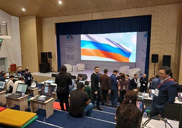 Пресс-центр во время форума межрегионального сотрудничества