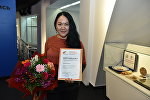 Айнур Шошаева, журналист городского сайта  Елорда Инфо, обладательница специального приза от Sputnik