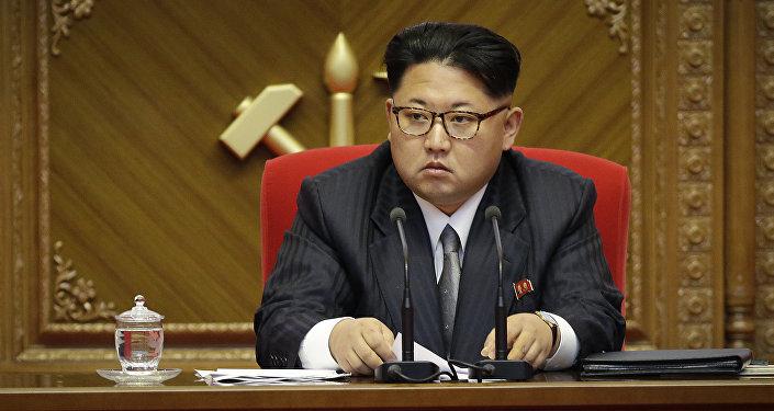 Архивное фото лидера Северной Кореи Ким Чен Ына во время съезда партии в Пхеньяне, Северная Корея