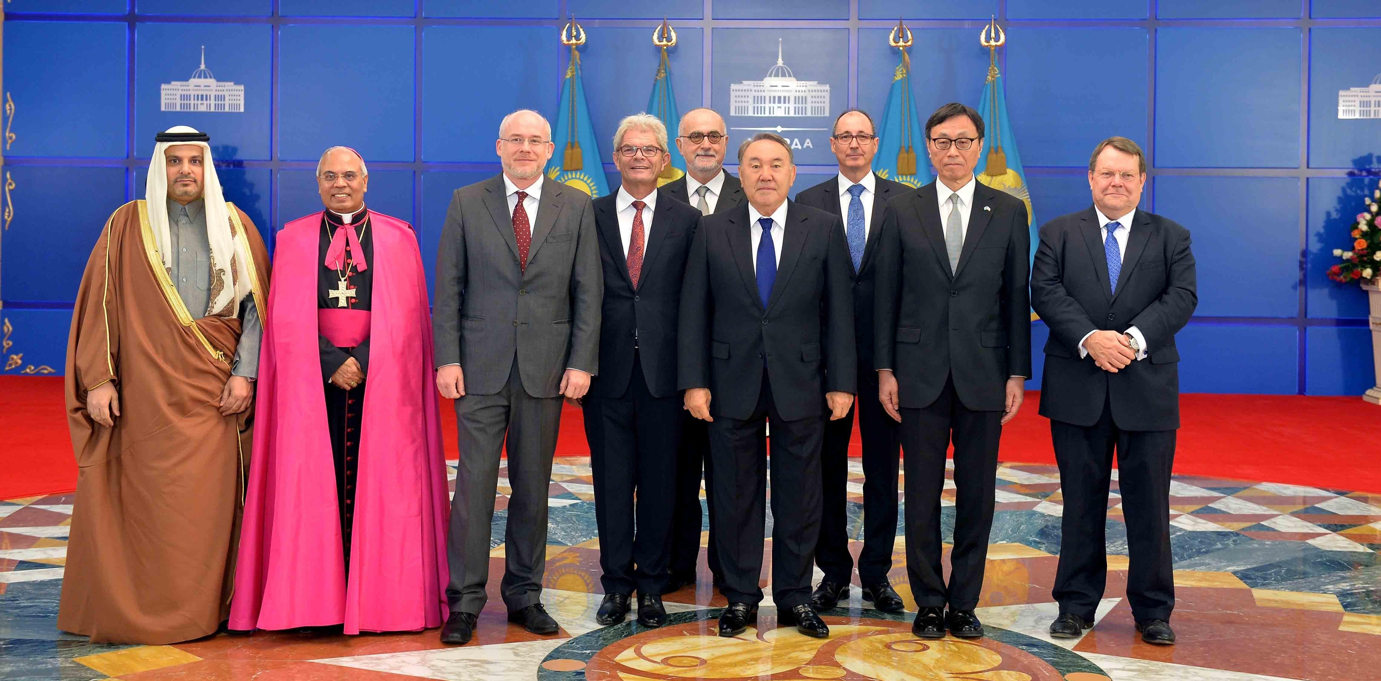 Вручение верительных грамот президенту Казахстана