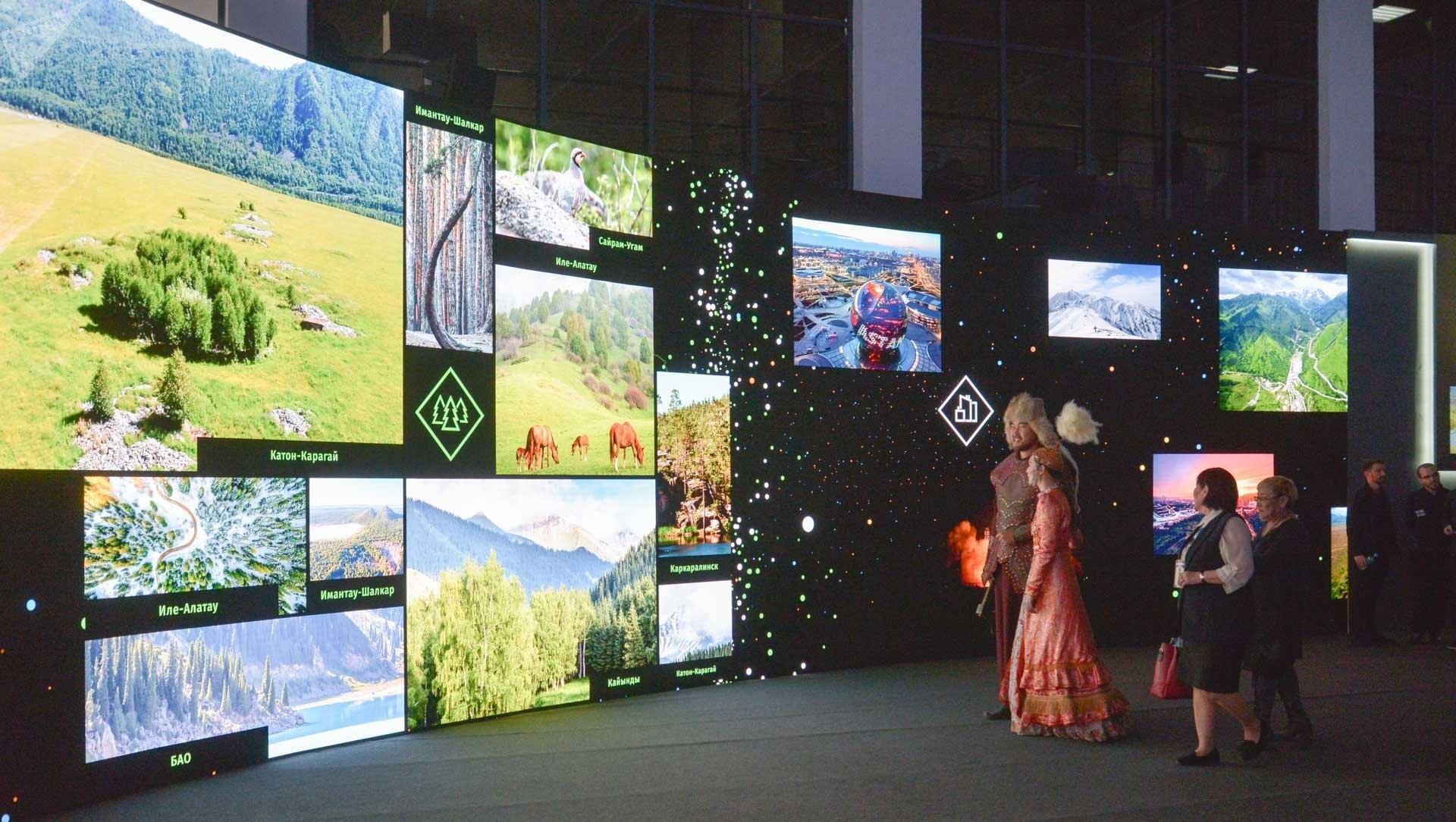 Туристическая выставка на форуме приграничного сотрудничества Казахстана и России