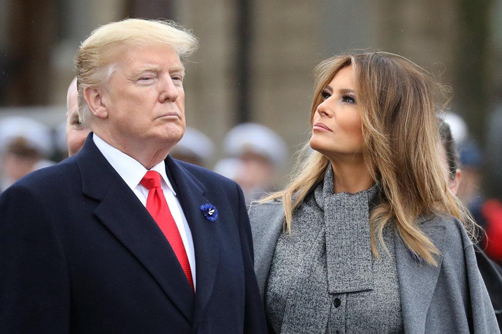 Президент США Дональд Трамп и его супруга Мелания Трамп