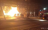 Пожар на металлургическом комбинате АО АрселорМиталл Темиртау