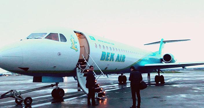 Самолет компании Bek Air, архивное фото