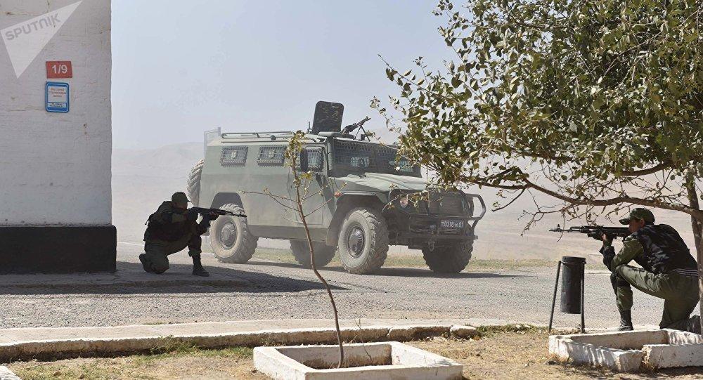 Совместные учения 201-й российской военной базы и военных сил Таджикистана