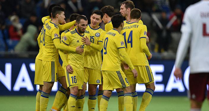 Матч Казахстан - Латвия в рамках Лиги нации