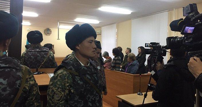 В зале суда, где проходит процесс по делу об убийстве Ерасыла Аубакирова