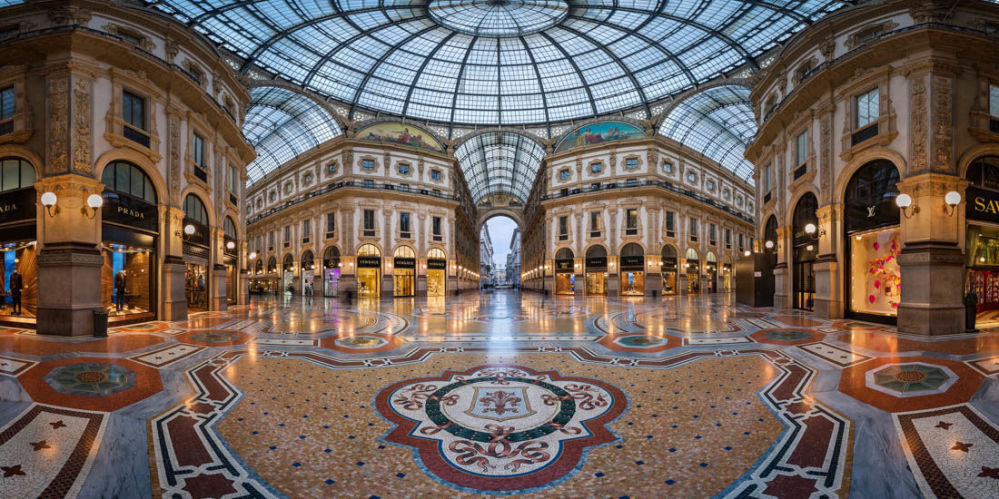 Снимок Galleria Vittorio Emanuele Ii In Milan фотографа Andrei Omelianchuk, вошедший в ТОП-50 категории Amateur Built Environment конкурса the EPSON International Pano Awards 2018