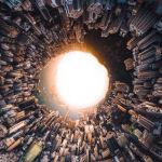 Снимок Hongkong Inception фотографа Vitaly Golovatyuk, вошедший в ТОП-50 категории Open Built Environment конкурса the EPSON International Pano Awards 2018
