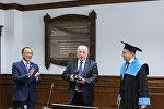 Президент Российской академии наук Александр Сергеев стал почетным профессором Евразийского национального университета
