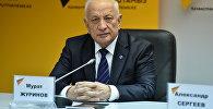 Президент Национальной академии наук Казахстана Мурат Журинов на пресс-конференции в студии Sputnik Казахстан