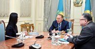 Нұрсұлтан Назарбаев Дінзухра Тілендиевамен кездесті