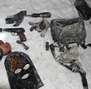 На месте спецоперации по задержанию террористов в Бишкеке