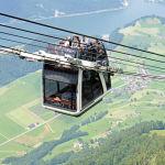 Фуникулер с открытым верхом в Швейцарии