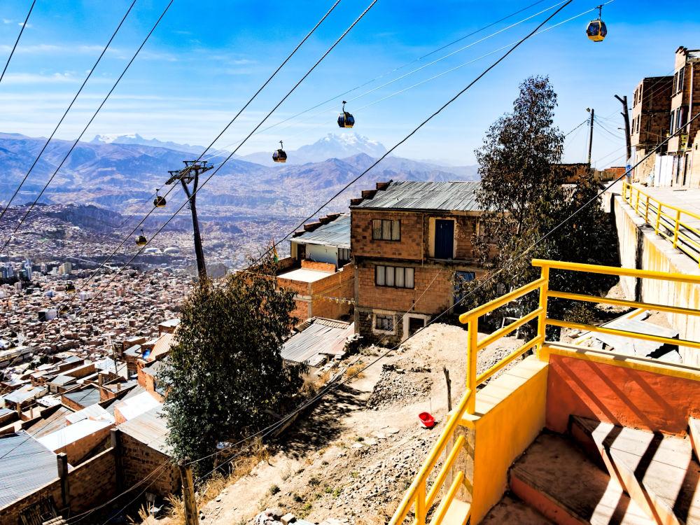 Желтые фуникулеры в Боливии