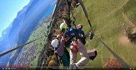 Ер адамды дельтапланға бекітуді ұмытып кеткен - видео