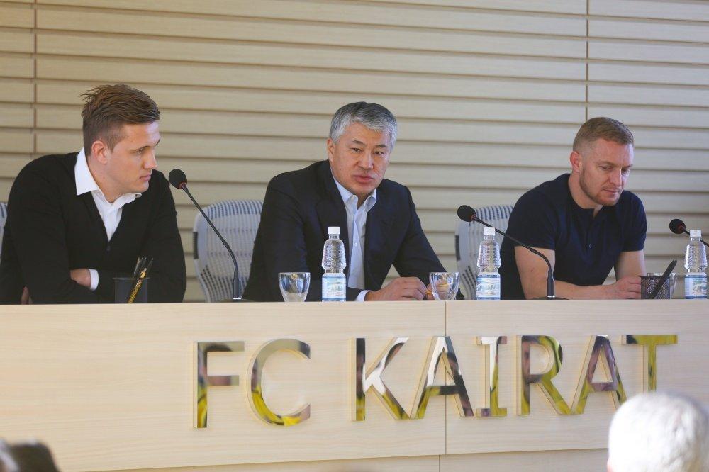 Новый тренерский штаб представили команде  ФК Кайрат