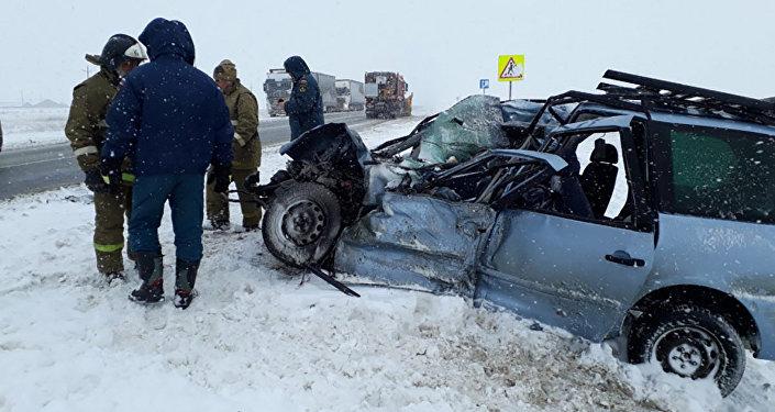 Крупная дорожная авария с участием граждан Казахстана произошла в приграничном регионе России