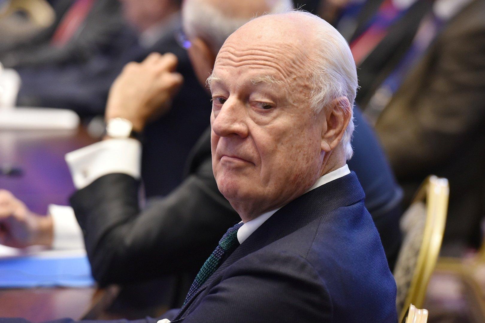 Одиннадцатый раунд переговоров по Сирии состоялся в Астане.  Специальный посланник генерального секретаря ООН по Сирии Стаффан де Мистура