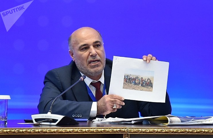 Одиннадцатый раунд переговоров по Сирии состоялся в Астане. На фото: представители оппозиции