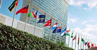 Архивное фото здания Организации Объединенных Наций