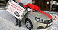 Максим Жидков выиграл автомобиль от посольства РФ на Рожественской ярмарке в Астане