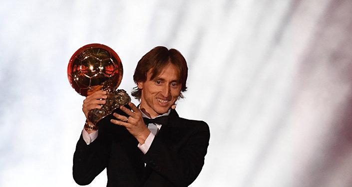 Лука Модрич на вручении Золотого мяча