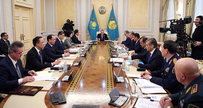 Президент Казахстана Нурсултан Назарбаев провел заседание Совета Безопасности