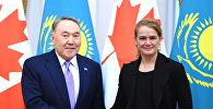 Президент Казахстана Нурсултан Назарбаев провел встречу с генерал-губернатором Канады Жюли Пайетт