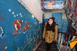 Подъезд превратили в подводное царство в Астане – видео полного погружения