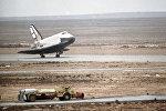 Орбитальный корабль Буран на космодроме Байконур, 1988 год