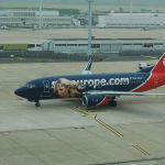 Самолет авиакомпании SkyEurope