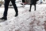 Астана алып мұз айдынына айналды - видео