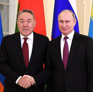 ҚР Тұңғыш президенті Нұрсұлтан Назарбаев пен РФ Президенті Владимир Путин