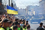Военный парад в Киеве ко Дню независимости Украины, архивное фото