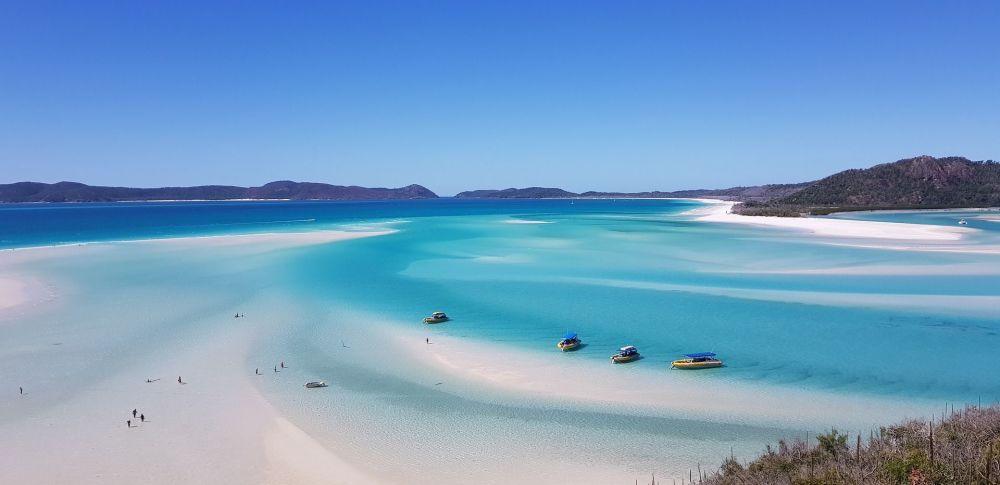 Пляж Уайтхейвен бич в Австралии