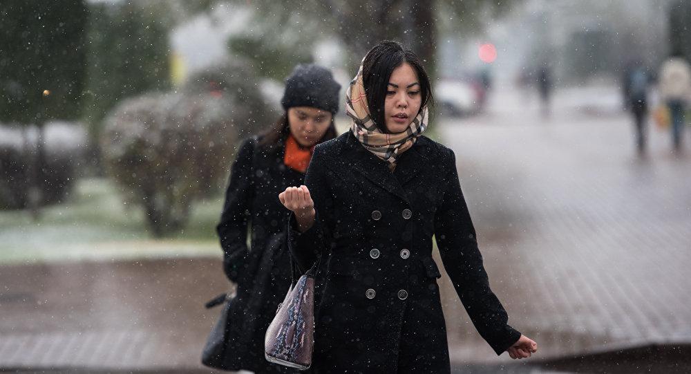 В Астане выпал первый снег