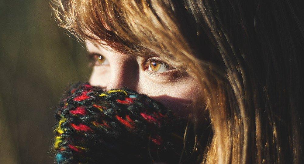 Глаза девушки