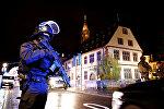 Служба безопасности на месте стрельбы в Страсбурге