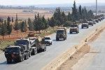 Колонна турецкой техники на границе с Сирией, архивное фото