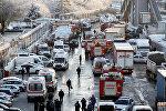 Службы спасения на месте крушения поезда в Анкаре